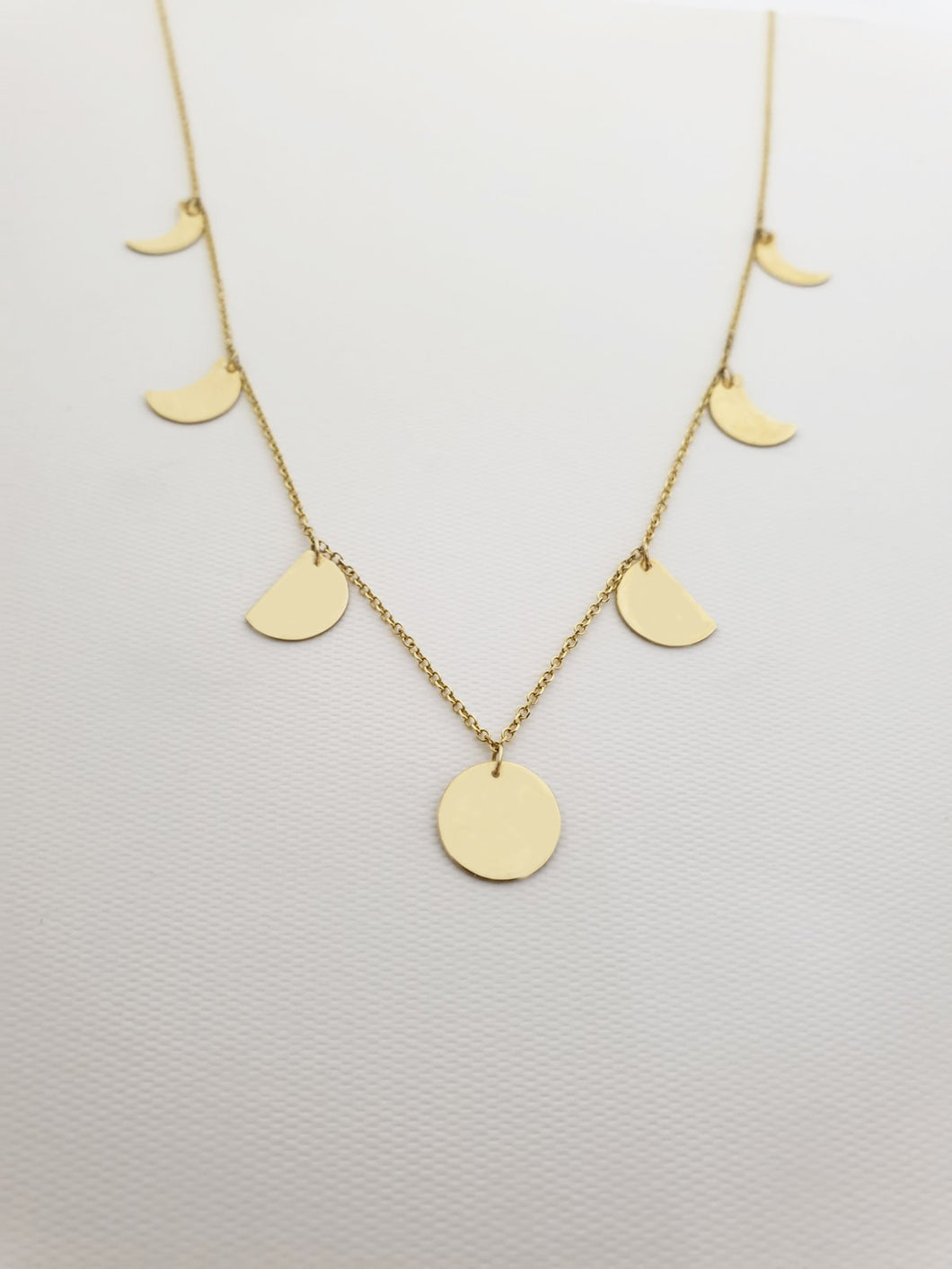 7 Phases of the moon Necklace