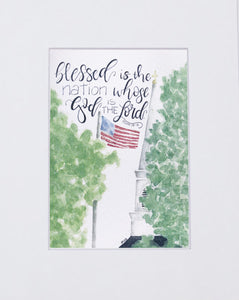 "Print-""Blessed Is The Nation"""