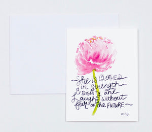"Notecards- ""She Is Clothed In Strength & Dignity"""