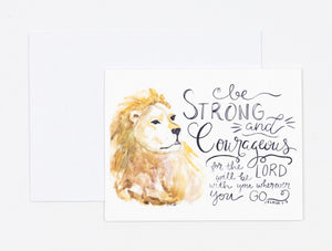 "Notecards- ""Be Strong & Courageous"""