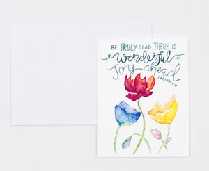 "Notecards- ""Wonderful Joy Ahead"""