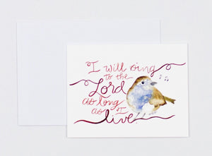 "Notecards- ""I Will Sing"""