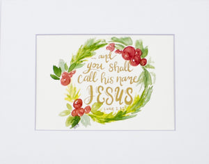 "Print- ""And You Shall Call His Name Jesus"""