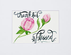 Print- Thankful & Blessed