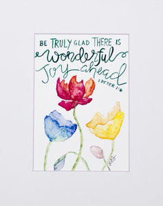 "Print- ""Wonderful Joy Ahead"""