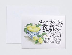 "Notecards- ""I Am The Vine, You Are The Branches"""
