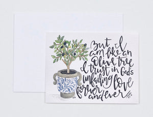 "Notecards- ""But I Am Like An Olive Tree"""