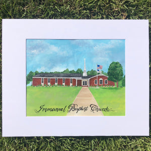 Custom Art- House/School/Church/Business Portrait Acrylic