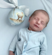 "Load image into Gallery viewer, Baby Boy Ornament (Oversized)-""Unto Us A Child Is Born"""
