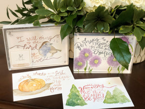 Box Set Prints 1-Christmas, Pumpkin, Flowers, Bird