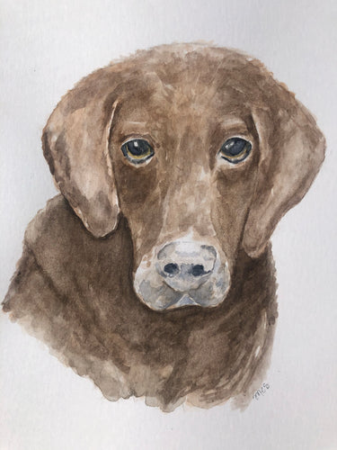 Custom Art- Pet Portrait Watercolor