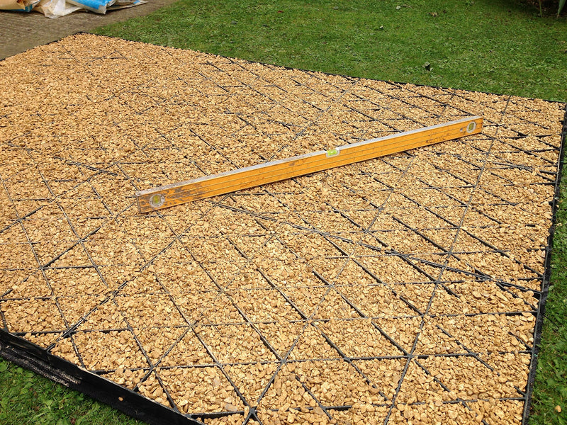 10x8 GARDEN SHED BASE GRID = FULL ECO KIT 3.05m x 2.55m +
