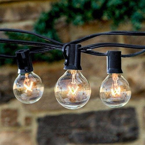 25ft Weatherproof Globe String Lights with 25 G40 Bulbs