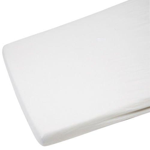 4X Crib Jersey Fitted Sheet 100% Cotton 40 x 90cm White