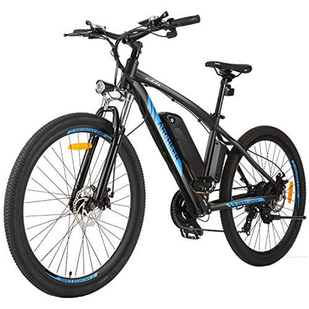 "ANCHEER 27.5"" Electric Mountain Bike for Adults, 250W E-bike with 36V 10Ah Lithium-Ion Battery for Adults, Professional 7/21 Speed Transmission Gears"