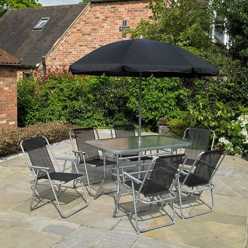 8 Piece Garden Furniture Patio Set inc. 6 x Chairs Table and