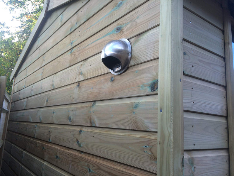 Activent V2 Garden building Ventilation Bull-Nose Vent with