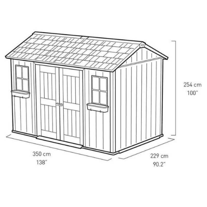 AETN Future Keter Oakland My Shed 11ft x 7ft 6 Inch (3.4 x