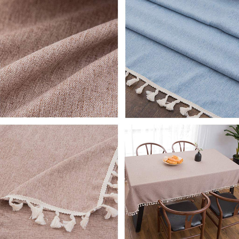 AMENZ Cotton Linen Tablecloth Table Cloth Garden TableCover