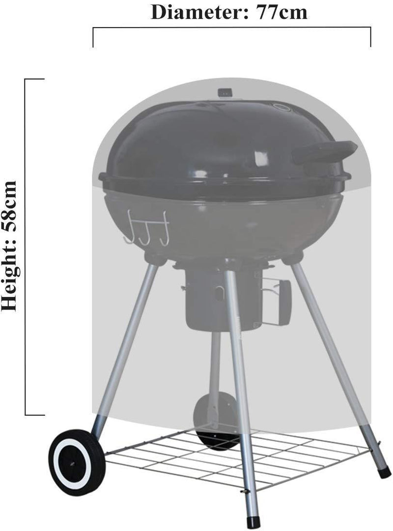 Ankier Barbecue Cover Waterproof Polyester Round BBQ Grill
