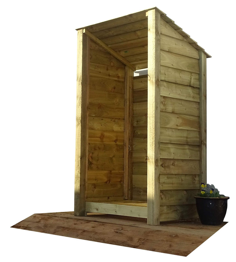 Arbor Garden Solutions Wooden Log Store 6Ft (1.4 cubic