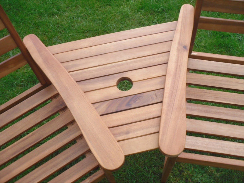 Ascot Hardwood Garden Bench Companion Set Love Seat Great