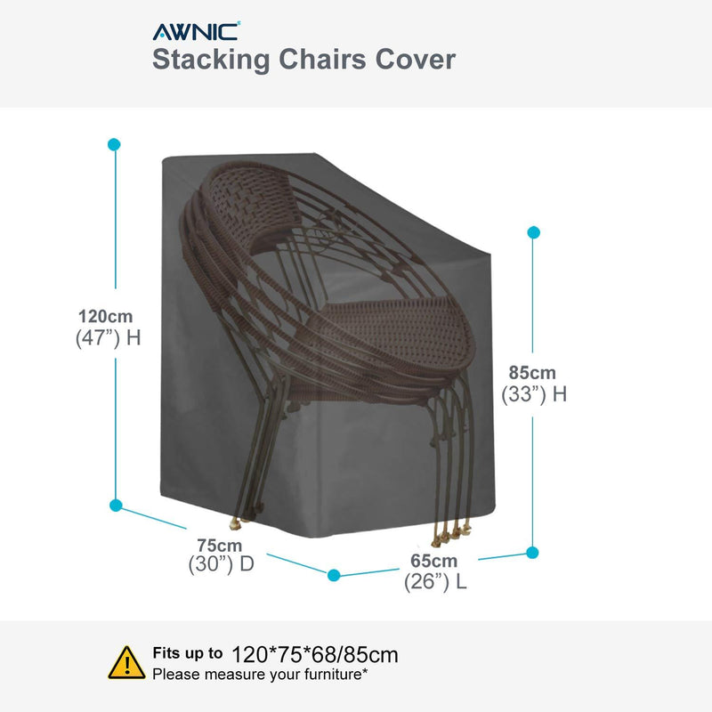 AWNIC Garden Chair Cover Waterproof Stacking Chair Cover