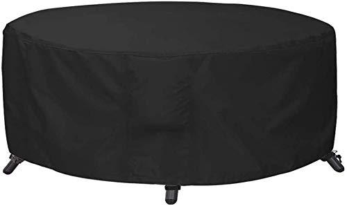 AWNIC Round Garden Table Cover Garden Furniture Cover