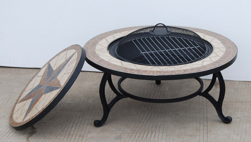 Bestfire SALTILLO BBQ FIRE PIT FOR GARDEN WITH GRILL KIT for