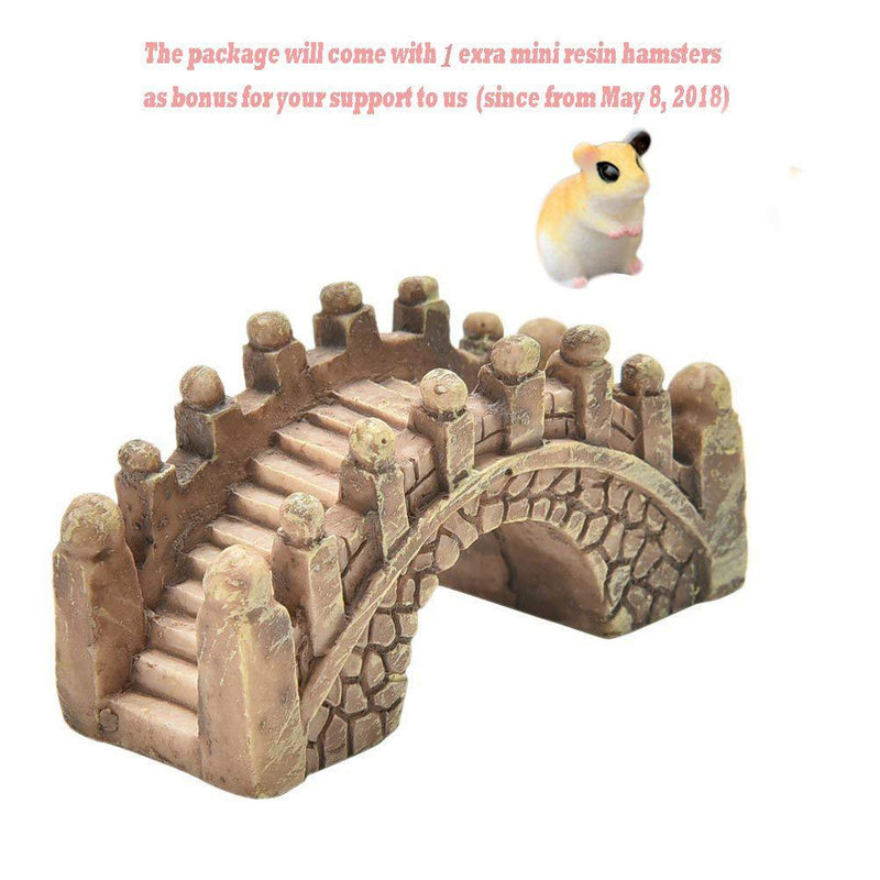BESTIM INCUK Miniature Fairy Garden Bridge Ornament DIY