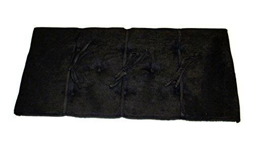 Black Piano Bench Cushion Pad 14 X 30 Suede Fabric Ebony