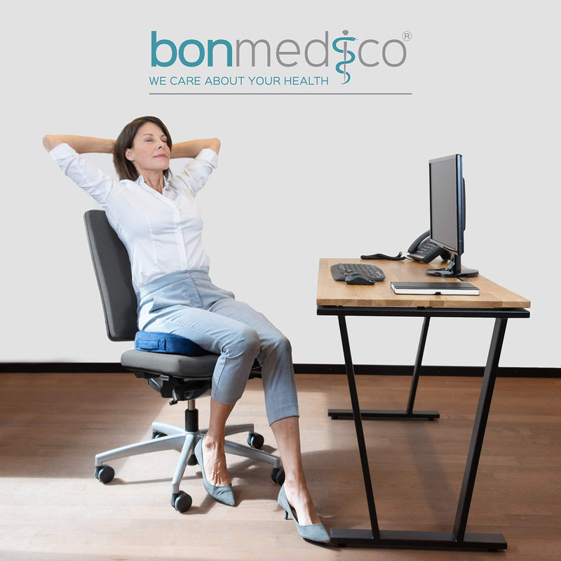 bonmedico Orthopedic seat cushion with gel-layer memory foam