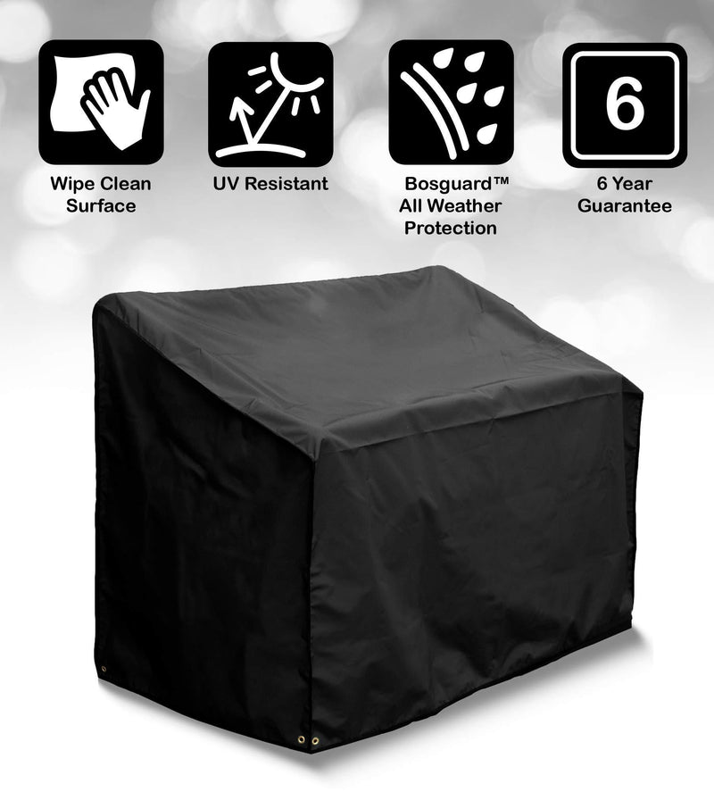 Bosmere Protector 6000 Storm Black 3 Seat Bench Cover -