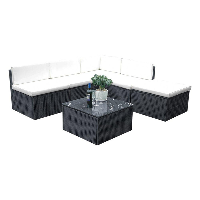 Britoniture Rattan Garden Furniture Set Lounge Corner Sofa