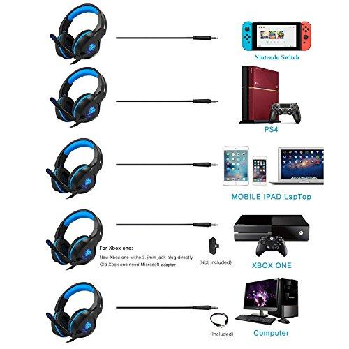 Butfulake Gaming Headset for Xbox One PS4 PlayStation 4