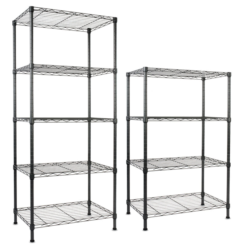 casa pura Steel Shelving Rocky Anthracite - 5 Tier