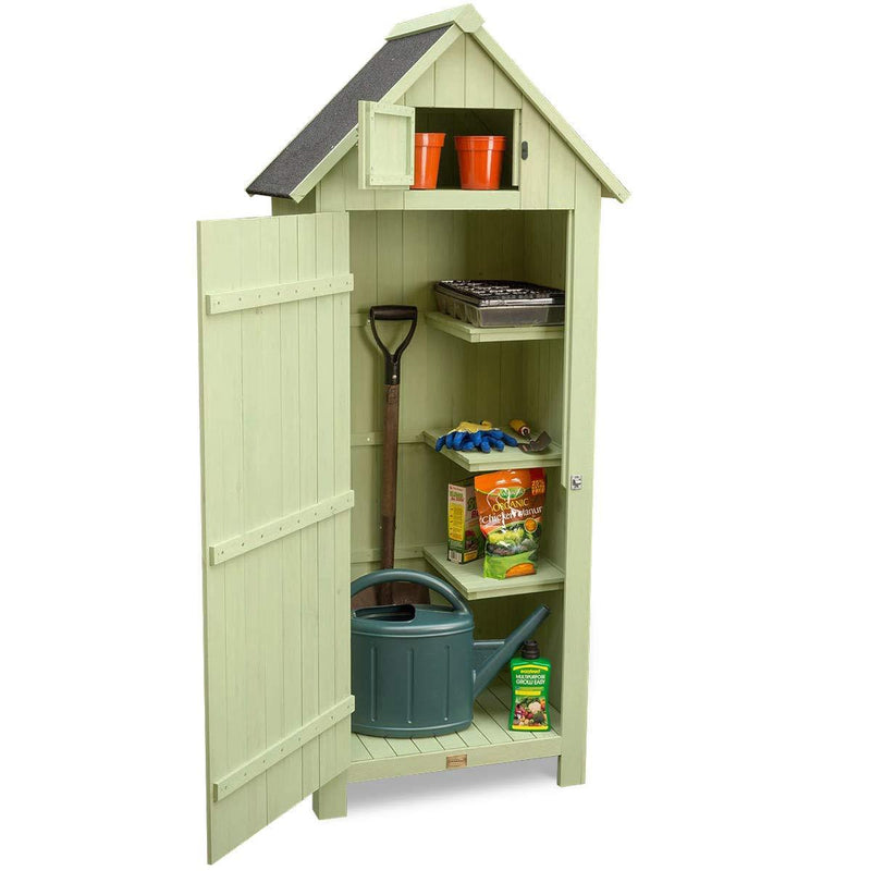 CHRISTOW Small Garden Shed Tall Slim Wooden Outdoor Storage