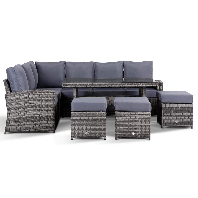 Club Rattan Harmony 9 Seater Rattan Corner Sofa with Dining