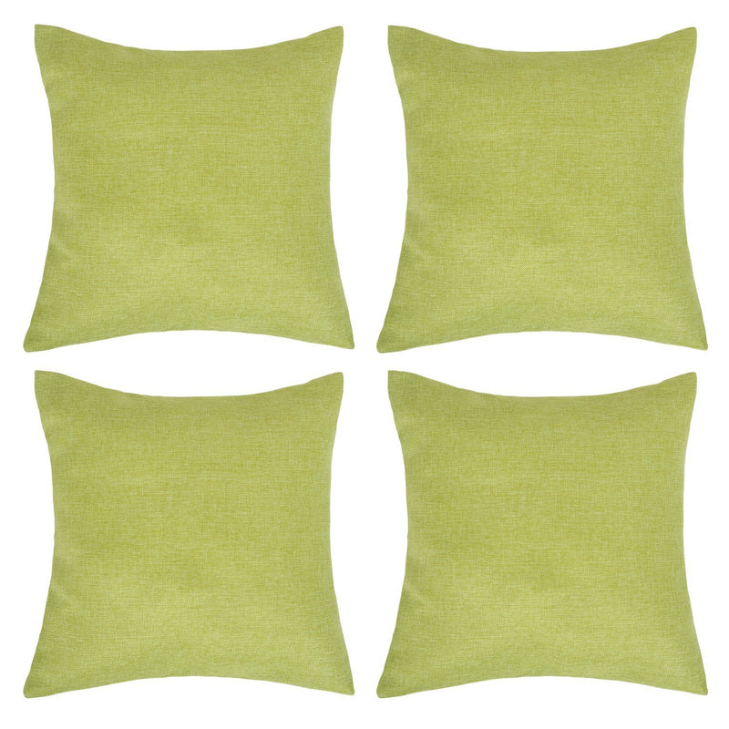 Deconovo Set of 4 Faux Linen Cushion Covers Throw Pillow