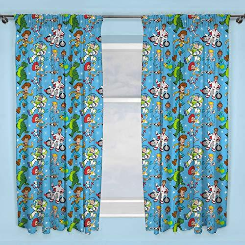 Disney Official Toy Story 4 Blue Curtains | Children's