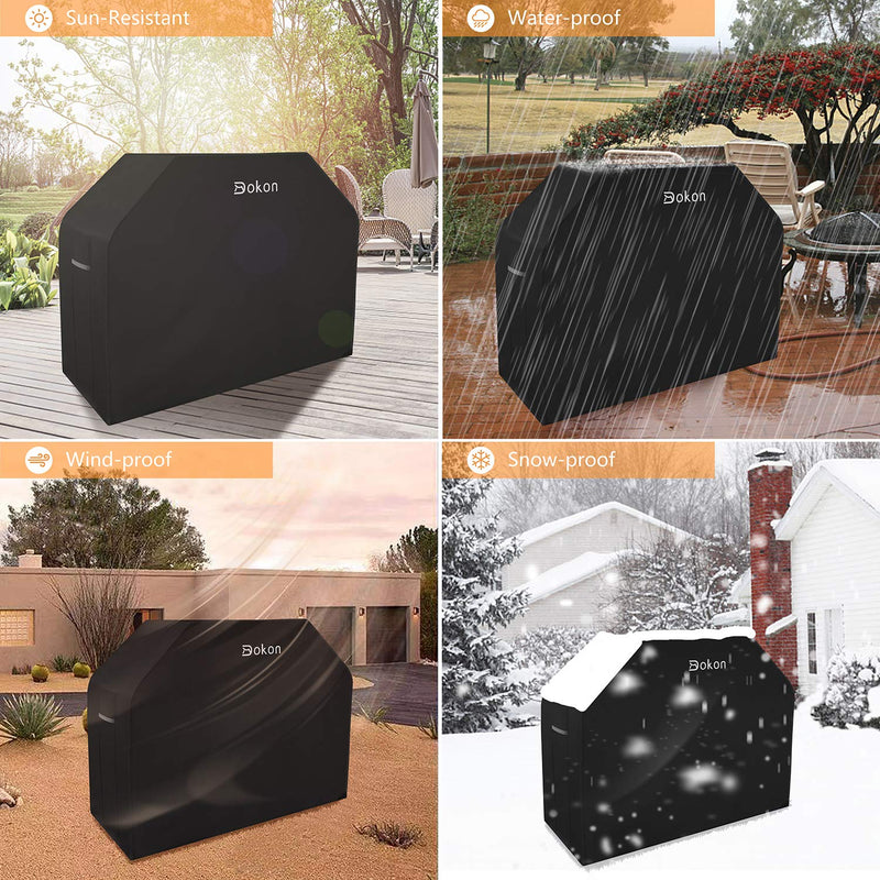 Dokon Barbecue Cover with Air Vent Waterproof Windproof