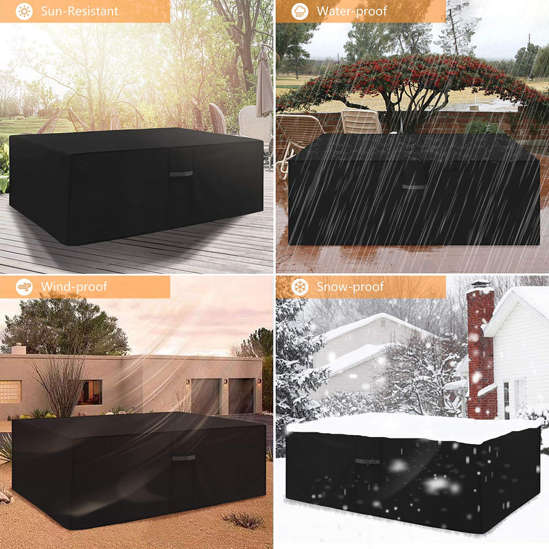 Dokon Garden Furniture Cover with Air Vent Waterproof