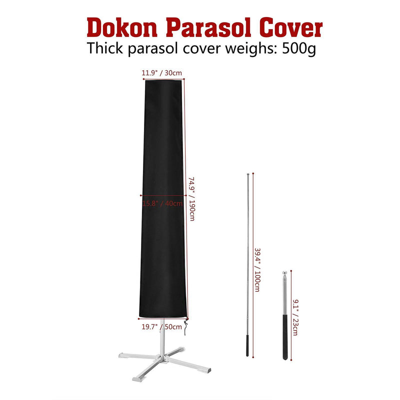 Dokon Parasol Cover with Contraction Rod Waterproof