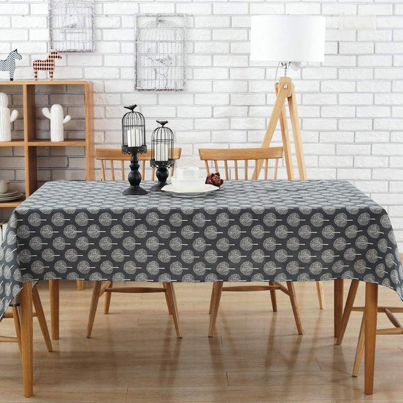 DOTBUY Tablecloths Rectangle Cotton and Linen Tree Washable