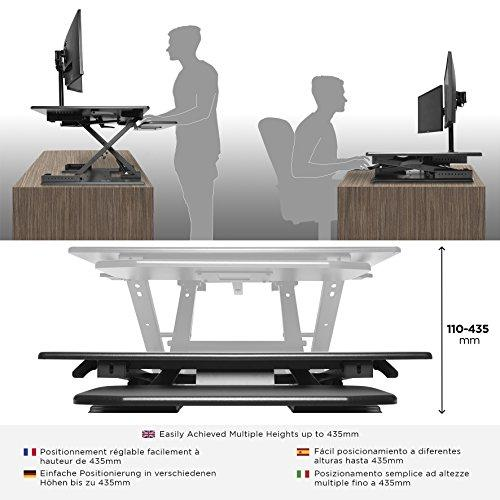 Duronic Sit-Stand Desk DM05D6 | Height Adjustable Office