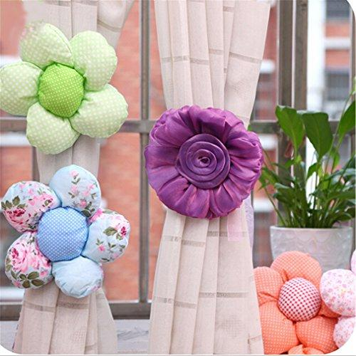 EJY 1PC Flower Curtain Tie back Baby Room Curtain Holdback