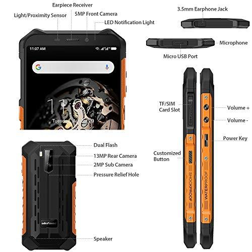 FAN Mobile phone Armor X5 Rugged Phone 3GB+32GB IP68/IP69K