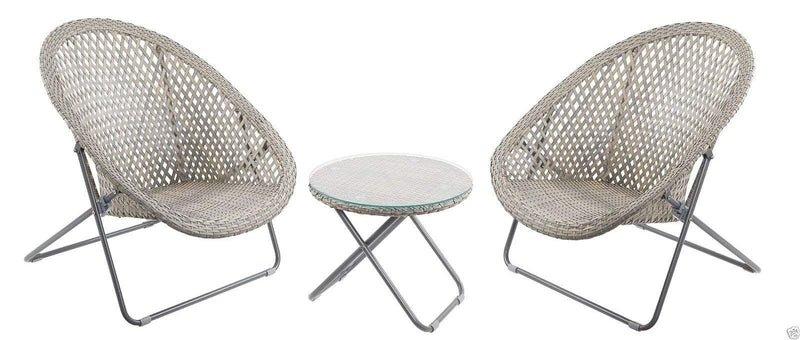 Faux Rattan Lounge Furniture Set Ideal for a Conservatory