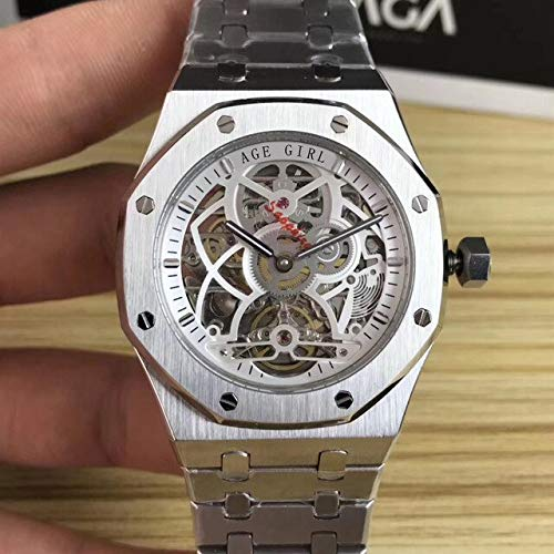 FDXF Men Stainless Steel Automatic Mechanical Sapphire Watch