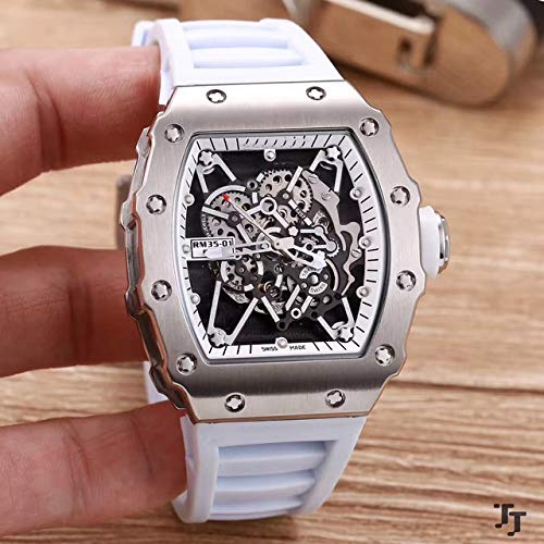 FDXF Men Watch Rubber Sapphire Stainless Steel 904L